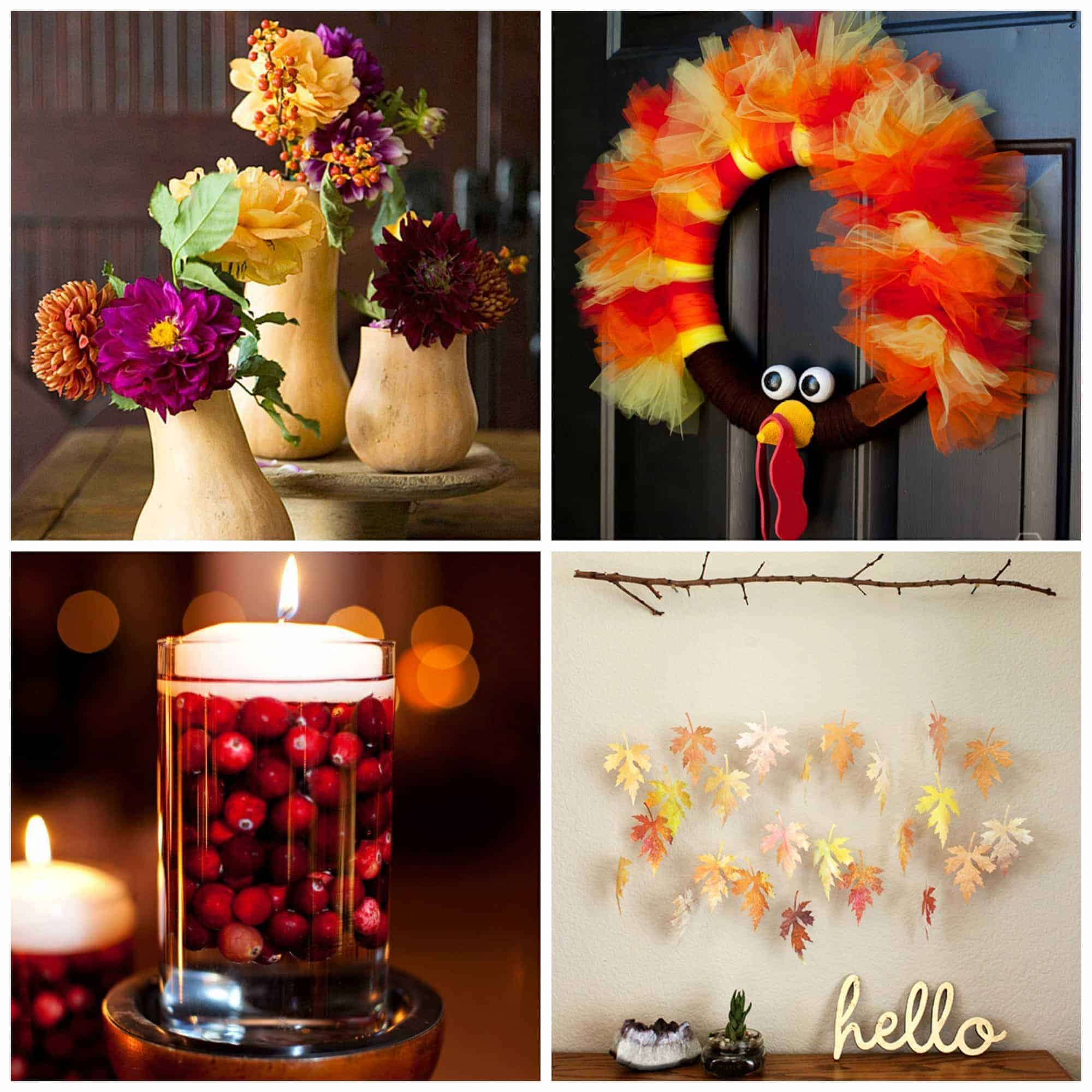 DIY Thanksgiving Decorations for Adults - Anti-June Cleaver