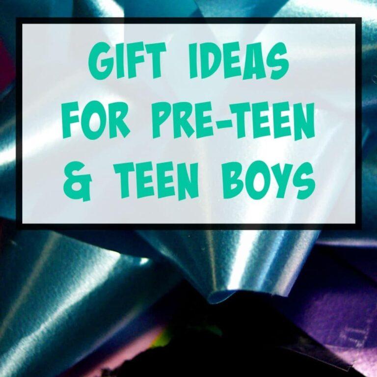 Gift Ideas for Pre-Teen & Teenage Boys