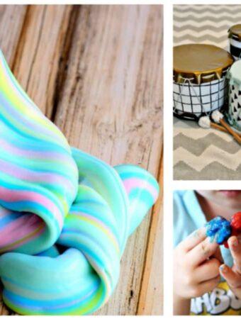 10 Creative Preschooler and Toddler Crafts & Activities {Roundup}
