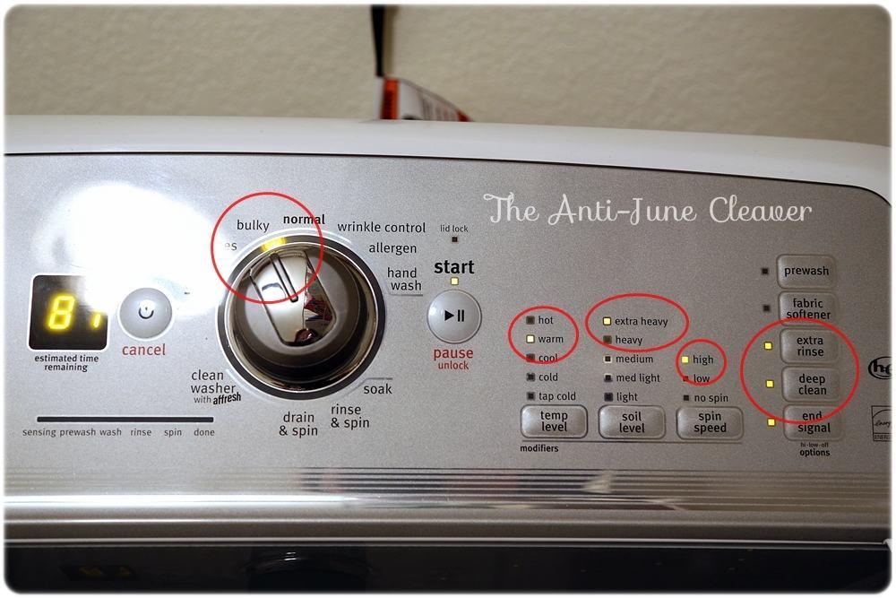 Washing Cloth Diapers - Wash Settings
