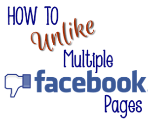 How to unlike multiple Facebook pages