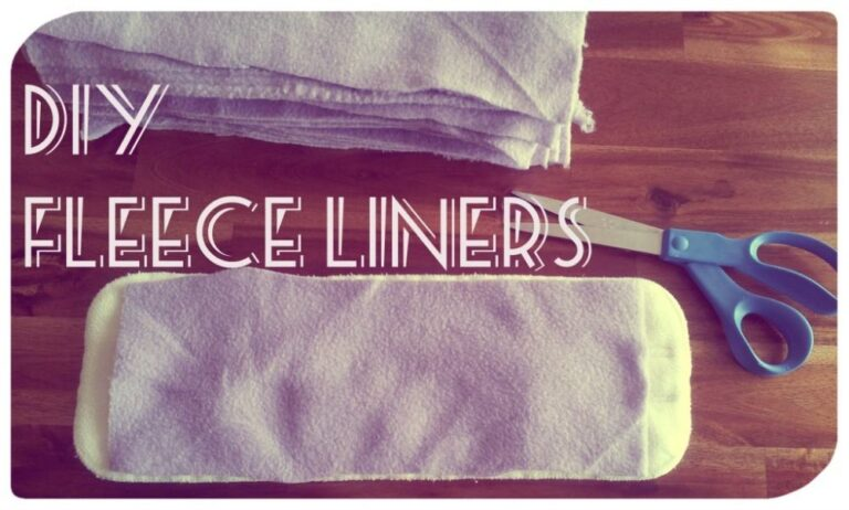 Make Your Own DIY Fleece Liners for Cloth Diapers