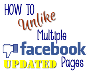 How to easily unlike pages on Facebook