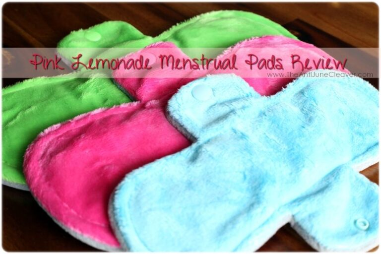 Pink Lemonade Shop Reusable Menstrual Pads Review