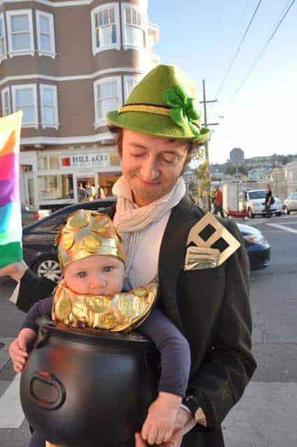 Creative Babywearing Halloween Costumes - Leprechaun Pot of Gold