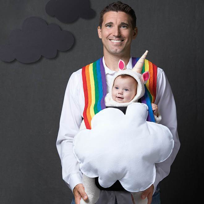 Creative Babywearing Halloween Costumes - Unicorn