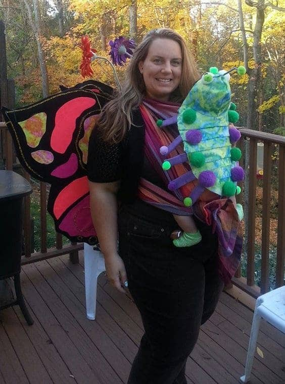 Creative Babywearing Halloween Costumes - Caterpillar & Butterfly
