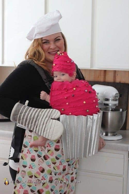 Creative Babywearing Halloween Costumes - Baker & Cupcake