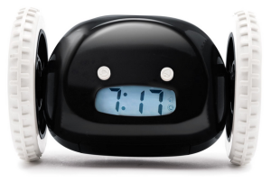 Clocky the runaway alarm clock - $39.95 greatgiftsformen.com
