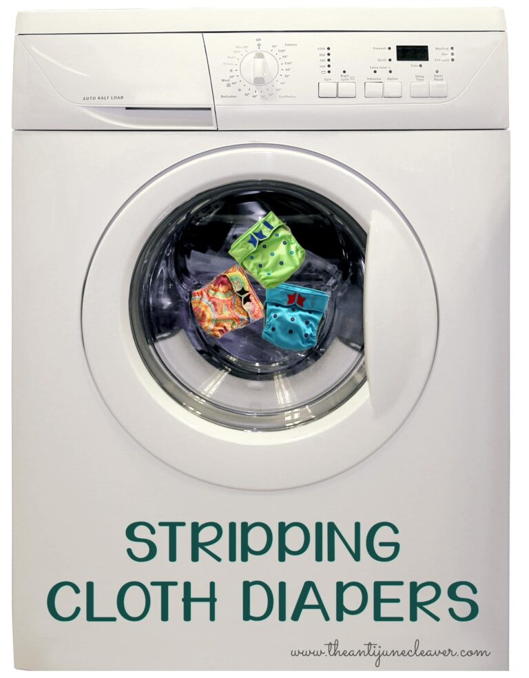 Stripping Cloth Diapers Isn't as Difficult as You May Think