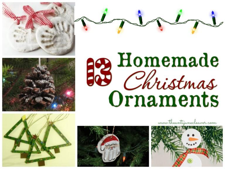 13 DIY Homemade Christmas Ornaments to Make with Kids