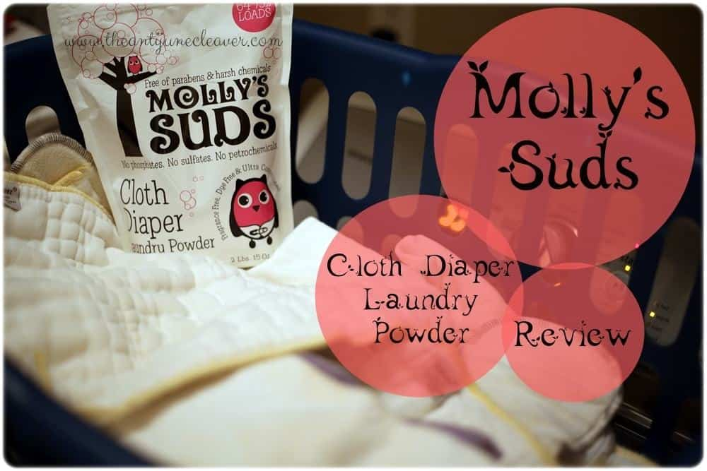 Molly's Suds Cloth Diaper Laundry Powder Review #clothdiapers