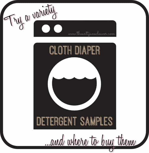 Try a Variety of Cloth Diaper Detergents – Where to Buy Samples #clothdiapers