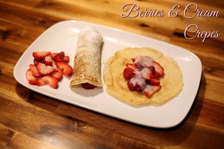 Berries and Cream Cheese Crepe Recipe