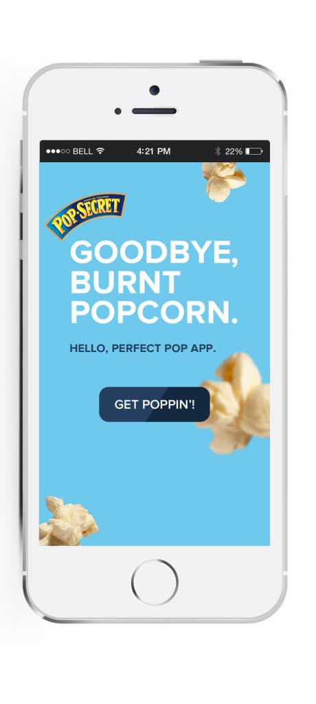 Make perfect popcorn with the Perfect Pop app from Pop Secret #sponsored