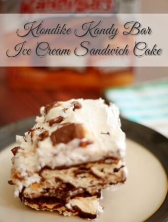 Klondike Kandy Bar Ice Cream Sandwich Cake Recipe #KandyBar #weavemade #ad