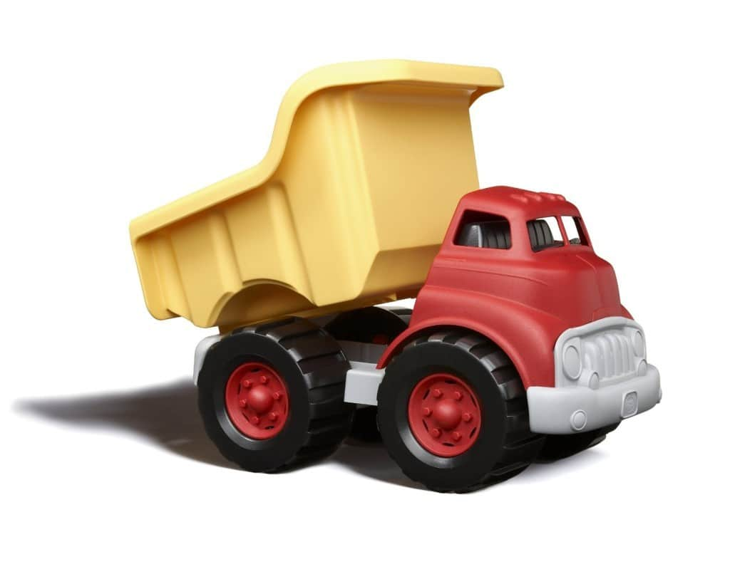 Recyclable or sustainable kids' toys - Green Toys dump truck