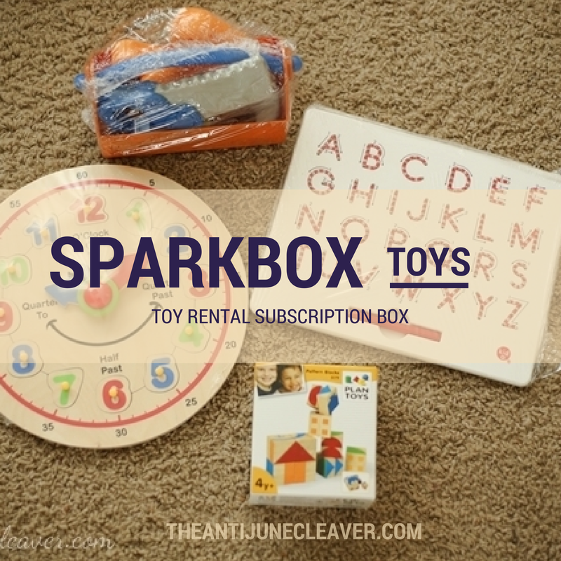 Sparkbox toy rental subscription box review