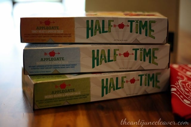 Healthy and convenient lunches with Applegate Half Time kits