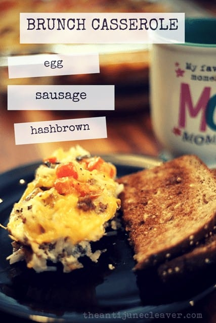 Easy Brunch Casserole with Eggs, Sausage, and Hash Browns
