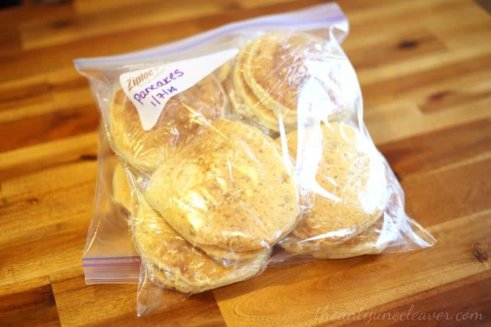 Make-ahead breakfast for busy mornings - homemade pancakes