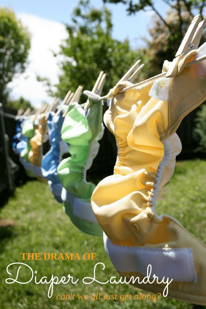 The drama of cloth diaper laundry