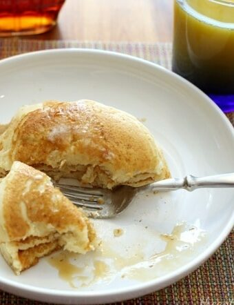 Make-ahead freezer breakfast: homemade buttermilk pancakes
