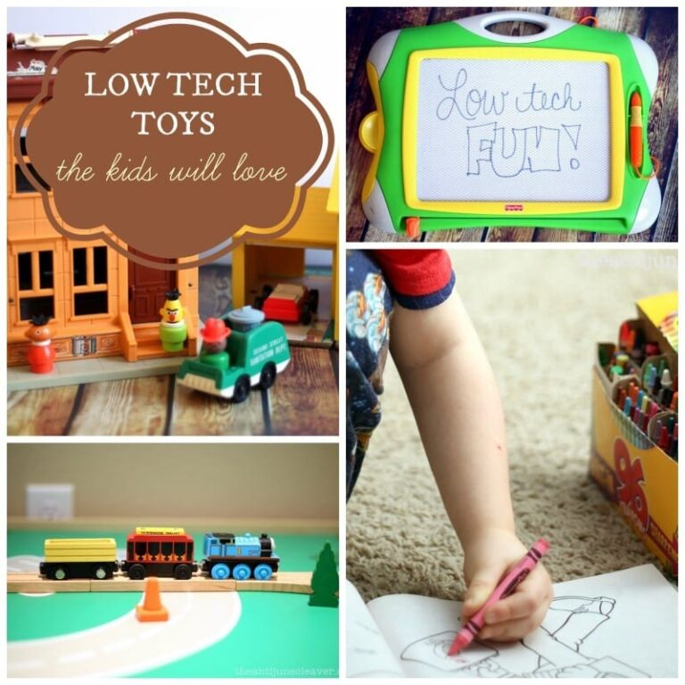 Low-Tech Toys that Your Kids Will Love