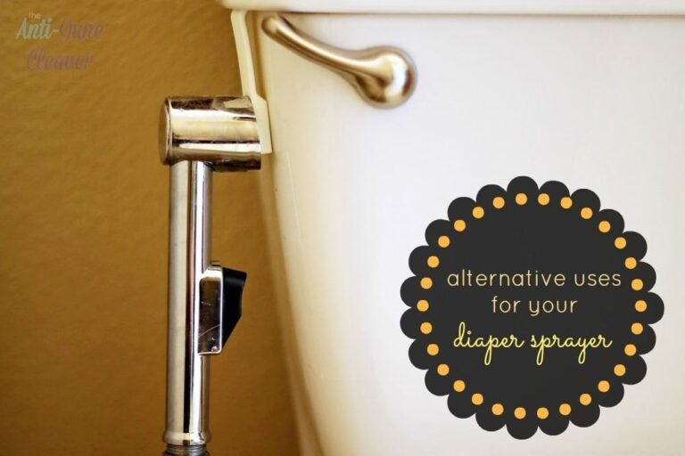 Why You Should Keep Your Diaper Sprayer After You're Done with Cloth Diapers