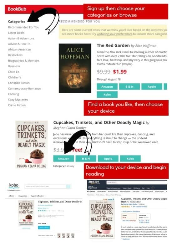 5 Places to Get GOOD Discounted and Free Ebooks (how to use BookBub)