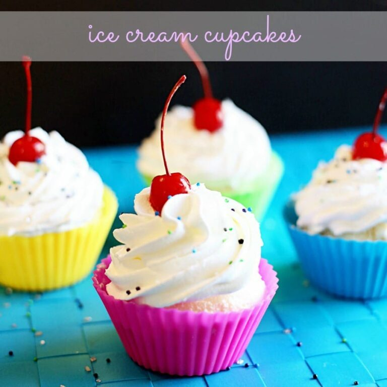 Cool Off this Summer with Ice Cream Cupcakes