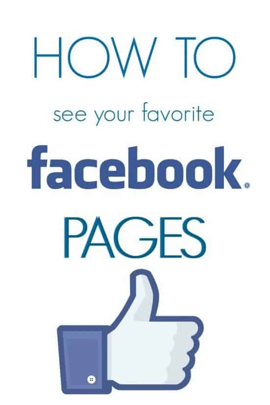 How to See Posts from Your Favorite Facebook Pages