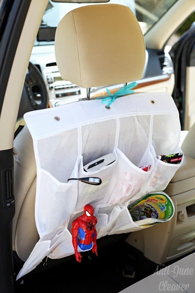 #RoadTripHacks: Back Seat Organizer #Albertsons (ad)