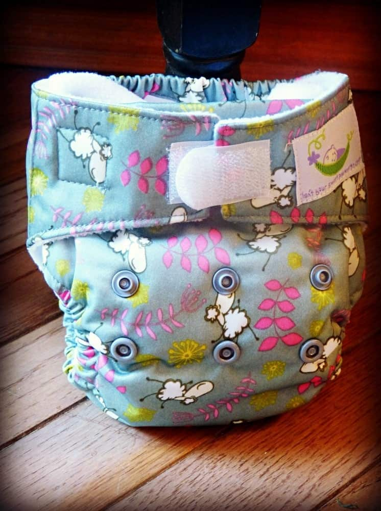 Sweet Pea newborn cloth diaper review - newborn AIO