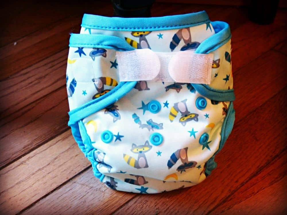 Sweet Pea newborn cloth diaper review - newborn diaper cover and prefold