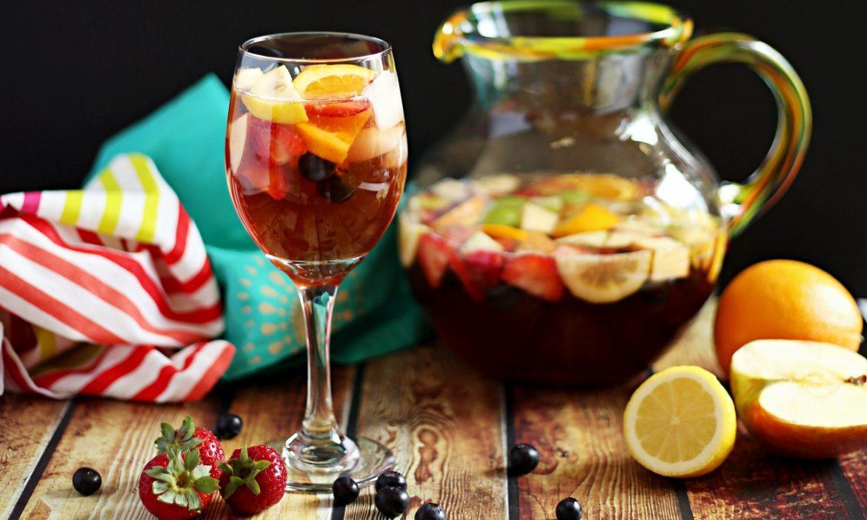 Sangria Mocktail | Valentine's Day Mocktails