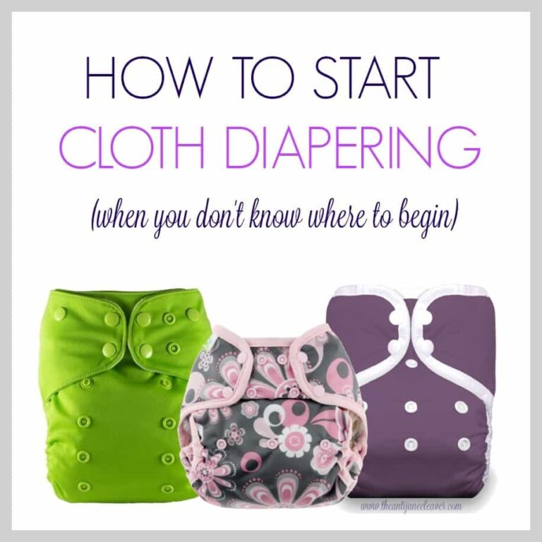 How to Start Cloth Diapering (When You Don't Know Where to Begin)