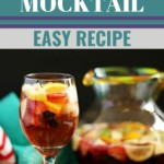 Non-alcoholic sangria mocktail This delicious, refreshing, and easy non-alcoholic sangria mocktail will be your new favorite drink for any time of day, baby showers, pregnancy, kids parties, and more. #nonalcoholicsangria #virginsangria #sangriamocktail #mocktails #mocktailrecipes #theantijunecleaver @reganajc