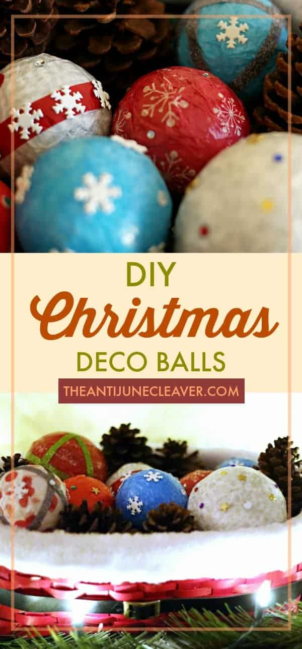 Holiday Decor Idea: #DIY Deco Balls #CraftAmazing (ad) #christmas #christmascrafts #christmasdiy