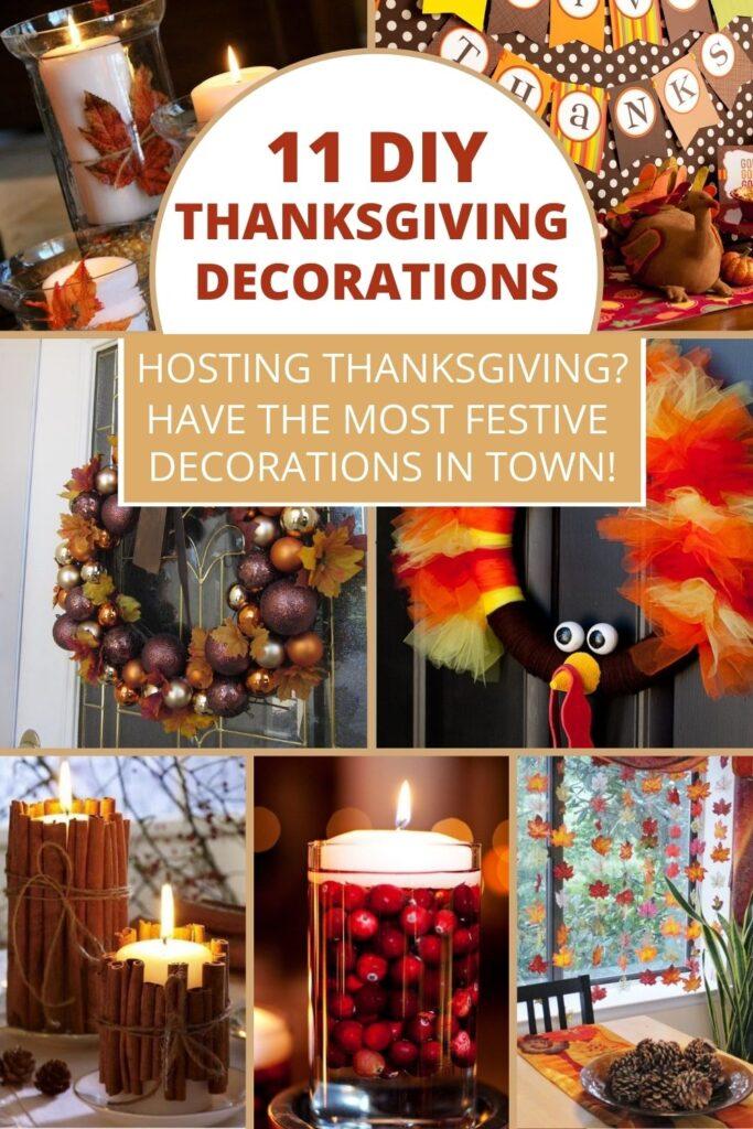 DIY Thanksgiving decorations