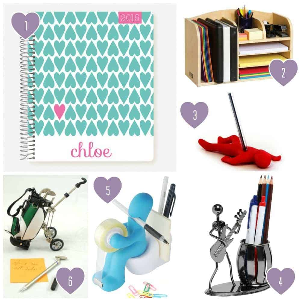 7th Anniversary Gift Ideas for Him and Her: Desk Set