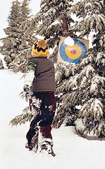 Fun Activities for the Kids to Do in the Snow: Snowball Target Practice