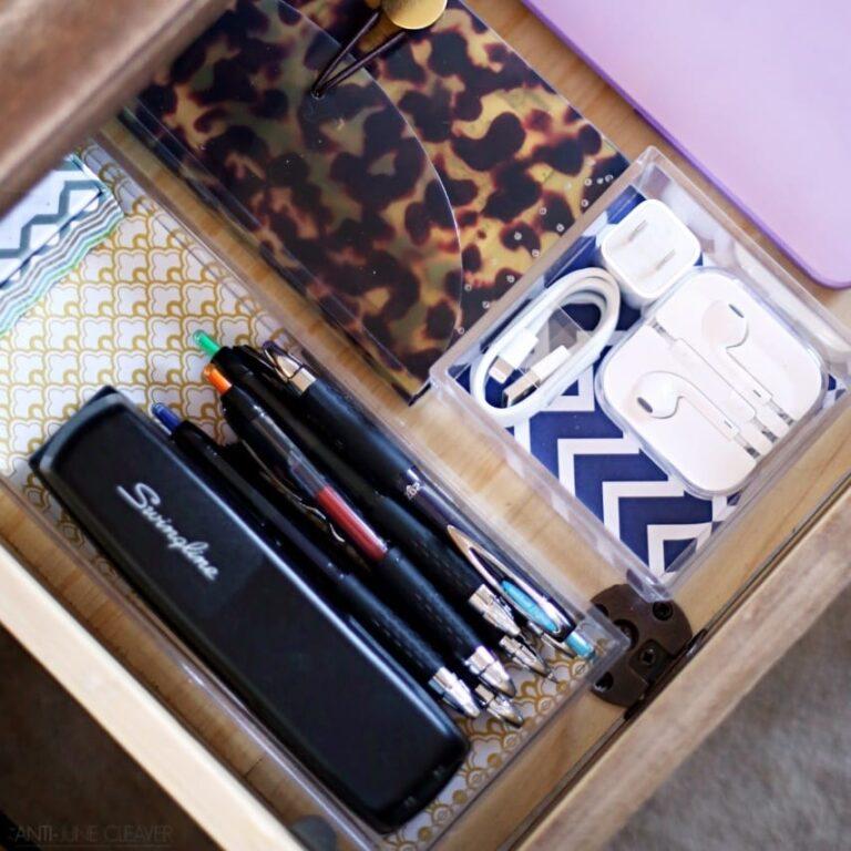 Simple Semi-DIY Desk Drawer Organizers