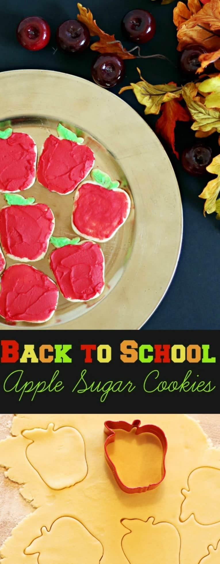 Back to School Roll Out Sugar Apple Shaped Cookies for First Day of School #EarnDoubleAtWalmart AD