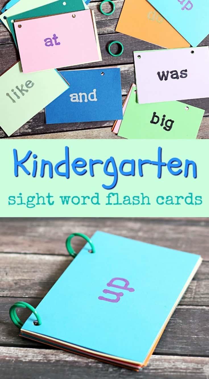 DIY Kindergarten Sight Word Flash Cards - The Anti-June ...