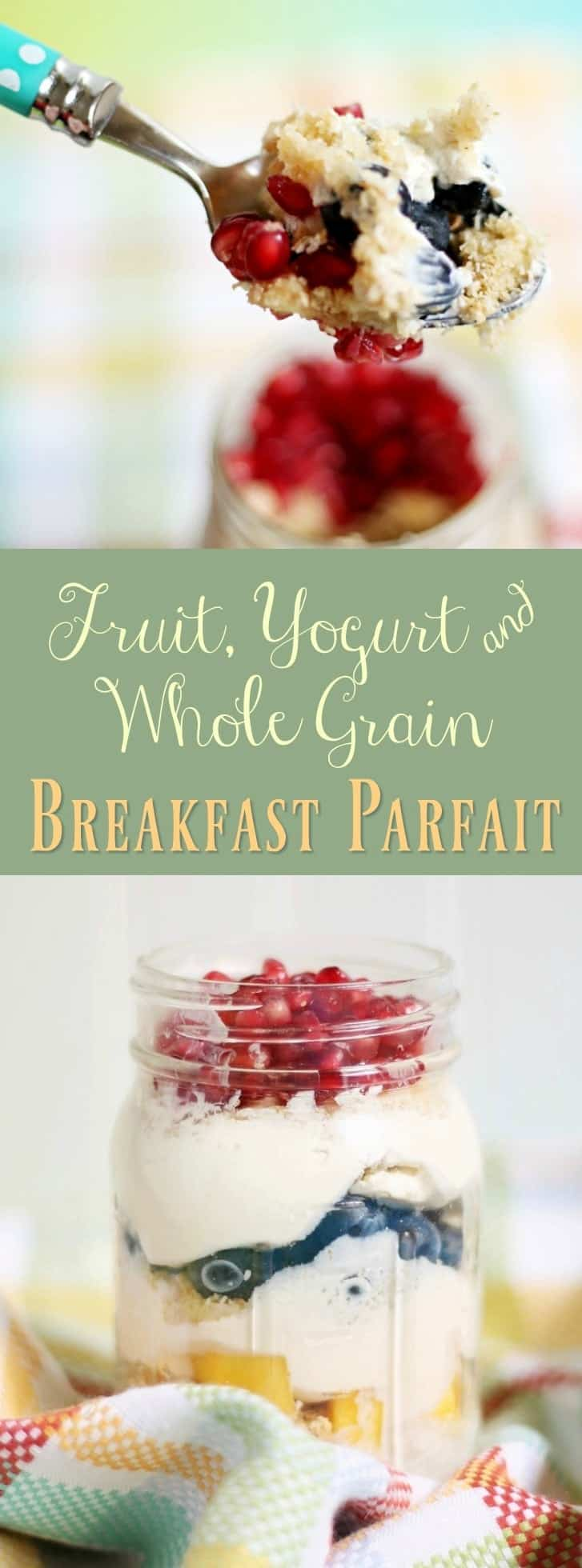 Fruit, Yogurt, & whole grain breakfast parfait recipe. #spoonfulsofgoodness (AD) -- Get a Post® cereal coupon here: ooh.li/1369266
