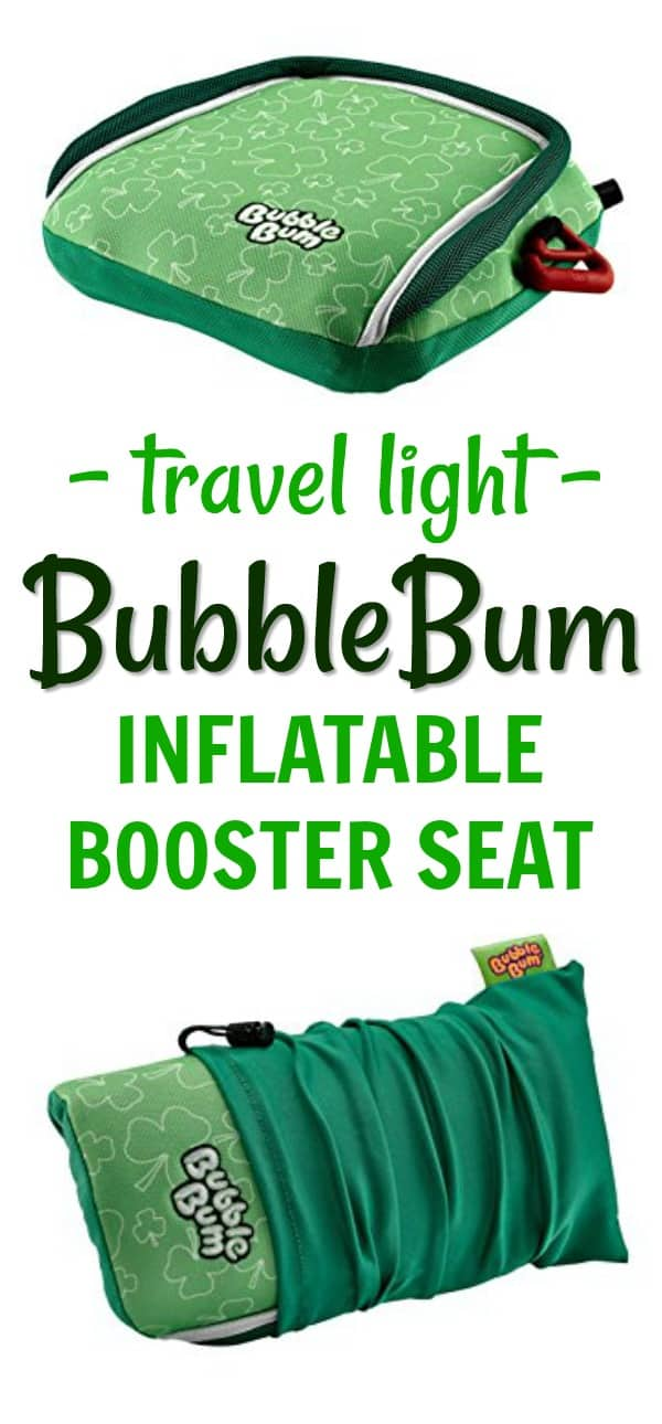 Travel with Kids / Car Seat Safety: Travel Light with the BubbleBum Inflatable Booster Seat (review)