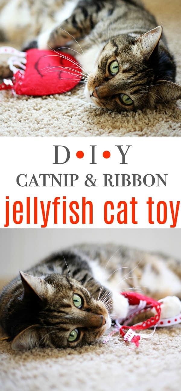 DIY Jellyfish Felt Catnip Cat Toy Tutorial & learn about World's Best Cat Litter #alitterbitamazing (AD) @bestcatlitter