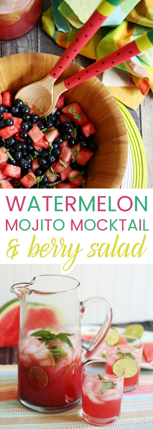 Watermelon Mojito Mocktail Amp Berry Salad The Anti June