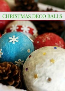 Christmas Crafts - Holiday Deco Balls #christmas #holidays #christmascraft #crafts #diy